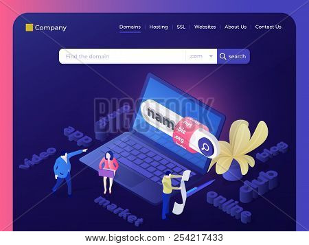 Find And Buy A Domain Name. People Choose A Name For The Site. Page Design Templates For Hosting Com
