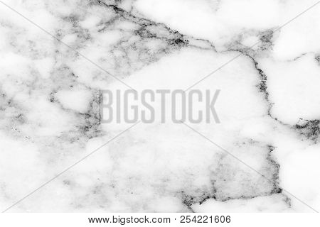 Beautiful Luxury Black Color And Gray Color  Pattern On White Color Of Marble Rock Which Use For Bro