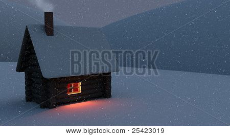Snowbound Hut