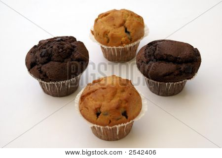 Chocolate And Blueberry Muffins