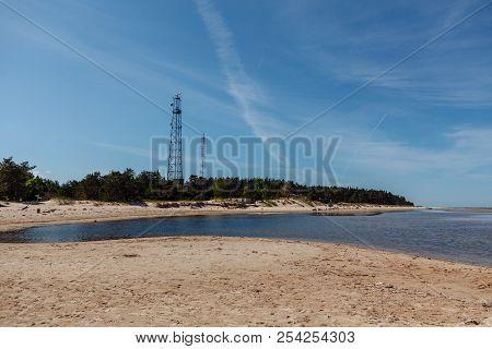 Two Cellular Tower On Kolka Cape, Latvia