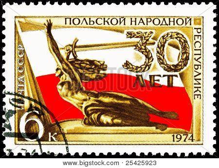 Nike Statue Polish Flag Sword 30Th Anniversary Poland