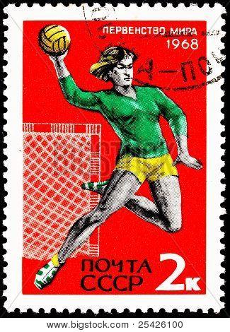 Woman Playing Throwing Handball