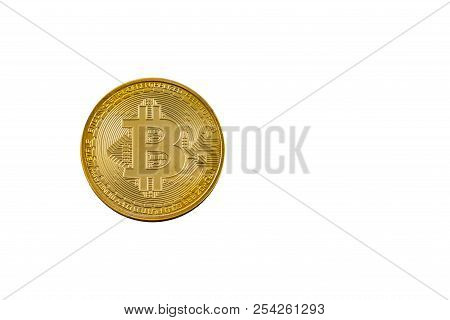 Bitcoin Cryptocurrency Coin Isolated On White Background