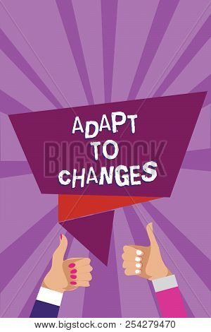 Word Writing Text Adapt To Changes. Business Concept For Embrace New Opportunities Growth Adaptation