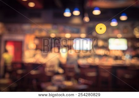Abstract Background Blurred Sport And Gumbo, Oyster Bar In America