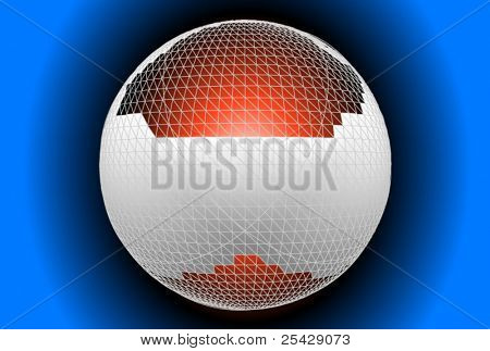 hightech globe button vector
