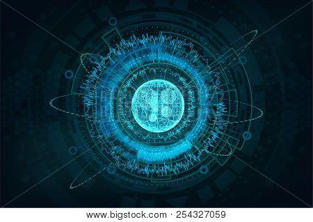 Futuristic Circuit Technology Concept.hud Elements Background. Digital Futuristic User Interface, Hu