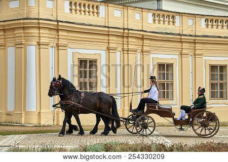 Slavkov U Brna, Czech Republic - August 11, 2018:slavkov-austerlitz Castle Historical Reenactment. L