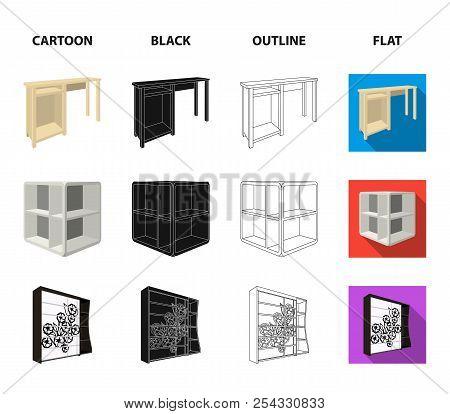 Dressing Table, Corner Shelves, Computer Desk, Wardrobe With Glass. Bedroom Furniture Set Collection
