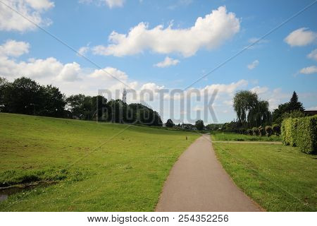 Dyke Along The Ring Canal Of The Zuidplaspolder In Nieuwerkerk Aan Den Ijssel