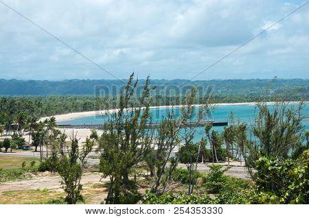 Overlooking Arecibo Harbor From Punta Marillos On Atlantic Ocean Coast In Puerto Rico