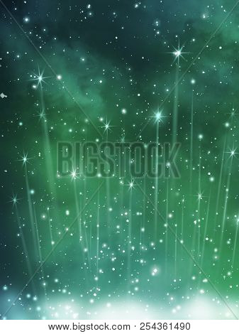 Fantasy Background Sky With Stars And Cloud