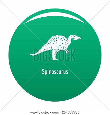 Spinosaurus Icon. Simple Illustration Of Spinosaurus Vector Icon For Any Design Green