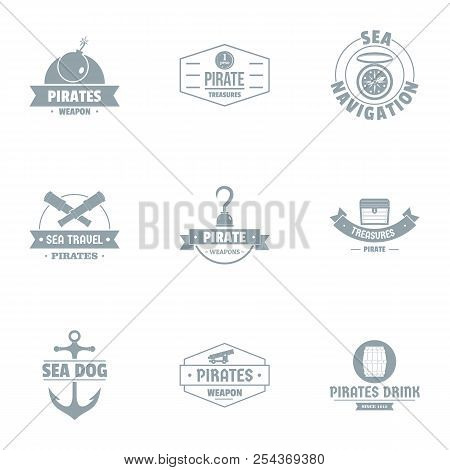Booty Bay Logo Set. Simple Set Of 9 Booty Bay Vector Logo For Web Isolated On White Background