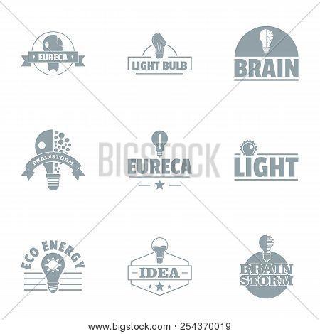 Eco Economy Logo Set. Simple Set Of 9 Eco Economy Vector Logo For Web Isolated On White Background