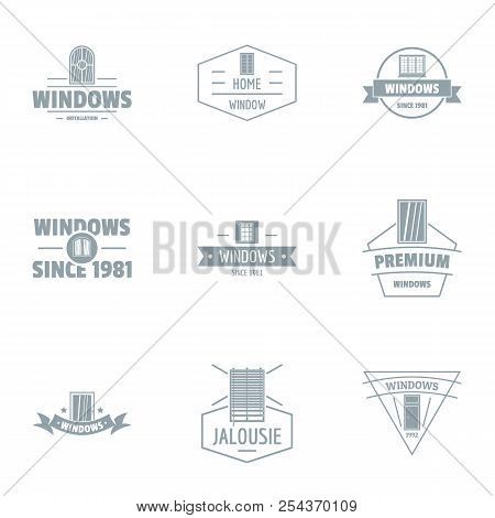 Window Protection Logo Set. Simple Set Of 9 Window Protection Vector Logo For Web Isolated On White