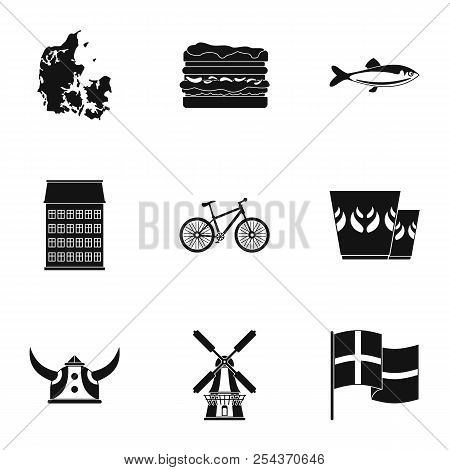 Fish Edge Icons Set. Simple Set Of 9 Fish Edge Vector Icons For Web Isolated On White Background