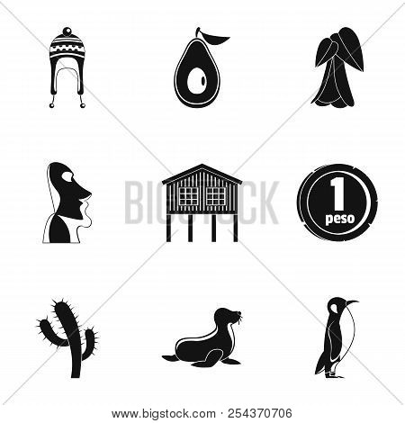 Foreign Land Icons Set. Simple Set Of 9 Foreign Land Vector Icons For Web Isolated On White Backgrou