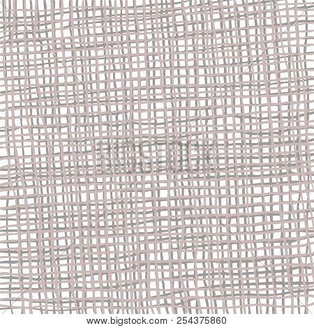 Burlap Background. Hand-drawn Burlap Fabric. Vector Drawing.