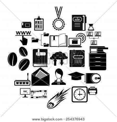 Scribe Icons Set. Simple Set Of 25 Scribe Vector Icons For Web Isolated On White Background
