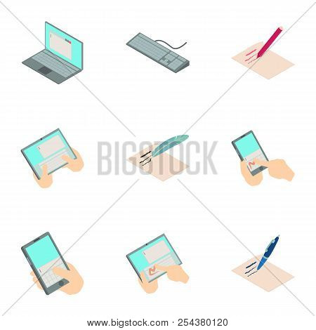 Online Map Icons Set. Isometric Set Of 9 Online Map Vector Icons For Web Isolated On White Backgroun