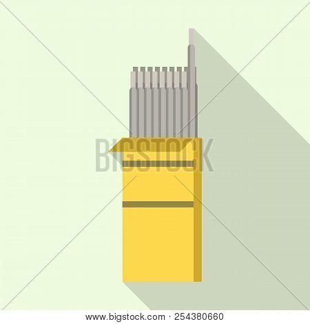 Welder Pack Of Sticks Icon. Flat Illustration Of Welder Pack Of Sticks Vector Icon For Web Design