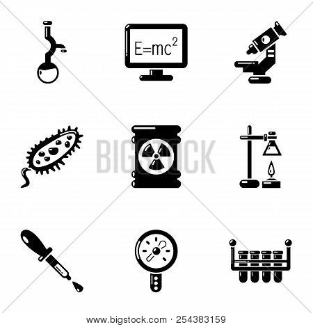 Physical Study Icons Set. Simple Set Of 9 Physical Study Vector Icons For Web Isolated On White Back