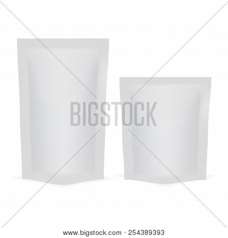Blank Of Doy Pack For Your Design. Mock Up. Vector