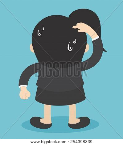 Businesswoman Showing A Scratch Head.confused And Puzzled