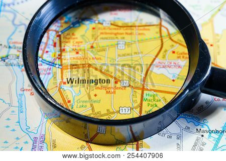 Wilmington, On The Map Of The United States Of America