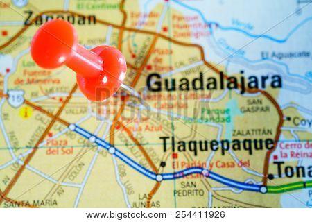 Region Of Guadalajara, Mexico On The Map