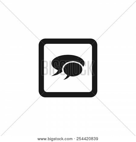 Chat Button Vector Icon On White Background. Chat Button Icon Sign For Logo, Website, App, Ui. Chat