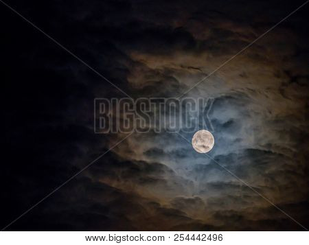 mystic night with a full moon.