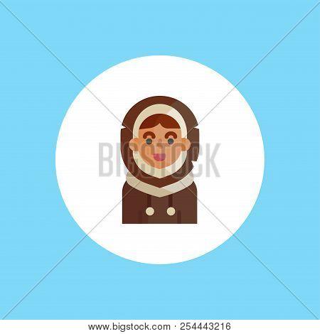 Eskimo. Human Race Single Icon In Cartoon Style Vector Symbol Stock Illustration .