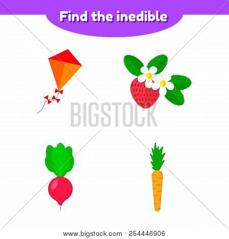 Puzzle Game For Preschool And School Age Children. Find Tvector Illustration. Puzzle Game For Presch