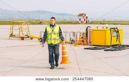 Airport Worker Support Service Aviation Man Transportation