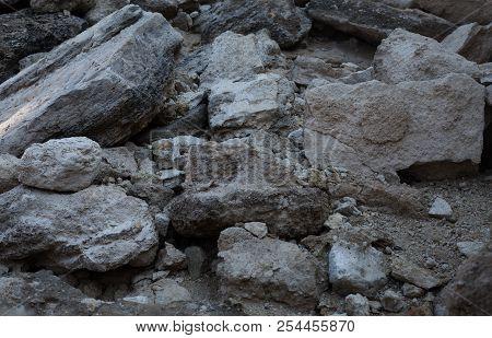 Stone Background. Stone Texture. Brown Stone Background. Stone Style.