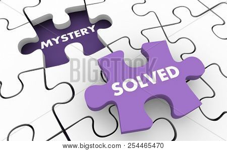 Mystery Solved Clues Invesitgate Solving Puzzle 3d Illustration