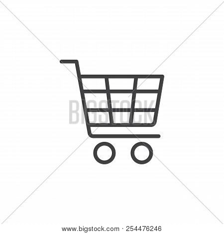 Shopping Cart Outline Icon. Linear Style Sign For Mobile Concept And Web Design. Shopping Trolley Si