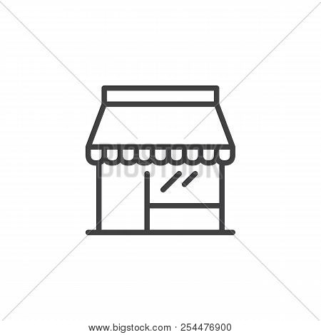 Shop Store Outline Icon. Linear Style Sign For Mobile Concept And Web Design. Storefront Simple Line