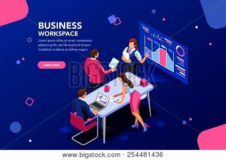 Business Workflow Management, Office Situations. People Workspace Creative Interact. Developer Sitti