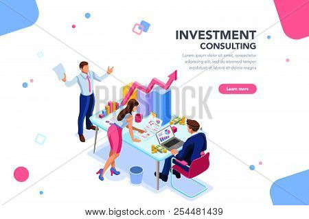 Business Adviser Team. Management Of Investment, Meeting, Account, Consultant Discussion. Data Incom