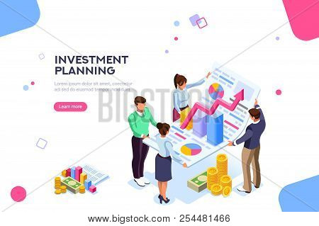 Creative Income Planning For Sales. Teamwork, Account Company, Increase Corporate Result. Growth Con