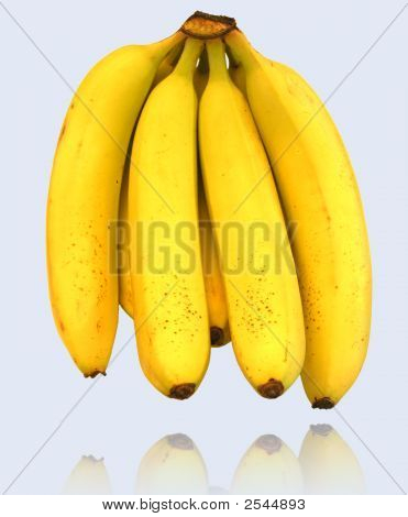 Banana And Its Reflection