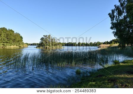 Beautiful Summer View From Lake Hornsjon In A Nature Reserve At The Swedish Island Oland