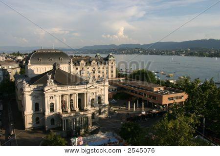 Zurich Opera House And Lake Of Zurich