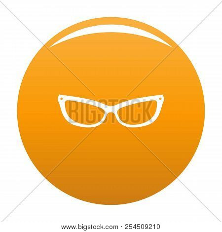 Astigmatic Eyeglasses Icon. Simple Illustration Of Astigmatic Eyeglasses Icon For Any Design Orange