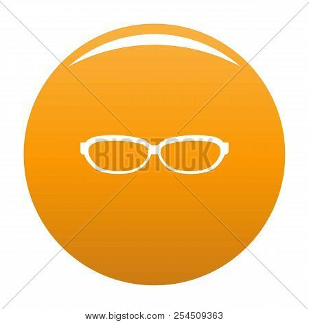 Astigmatic Spectacles Icon. Simple Illustration Of Astigmatic Spectacles Icon For Any Design Orange