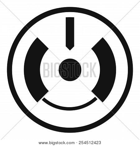 Gun aim scope icon. Simple illustration of gun aim scope icon for web design isolated on white background poster